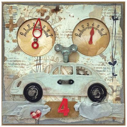 Obrázek Přání k 4. narozeninám Auto na klíček