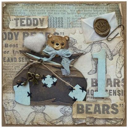 Obrázek Přání k 1. narozeninám Teddy bears 4