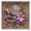 Obrázek Přání k 90. narozeninám Fialové květy
