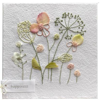 Obrázek Přání do obálky Vyšívané květiny