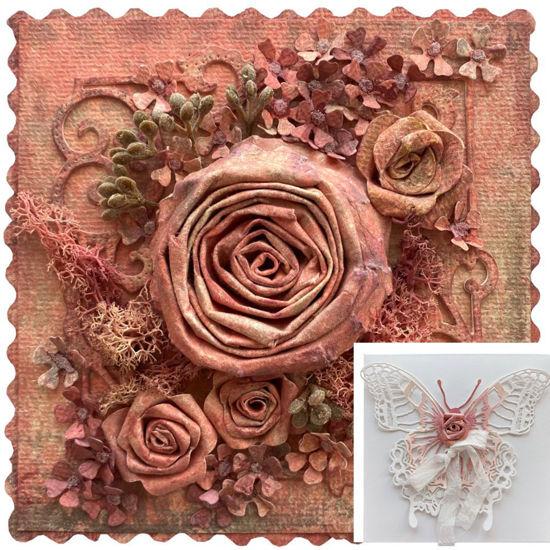 Obrázek Přání na peníze s krabičkou Květinová koláž