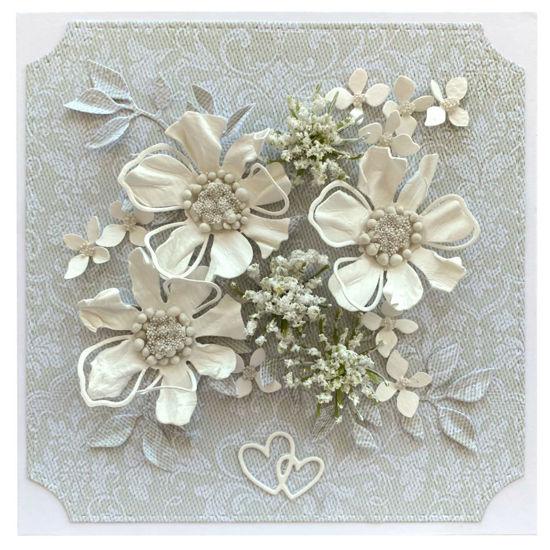 Obrázek Svatební přání Bílé kytky