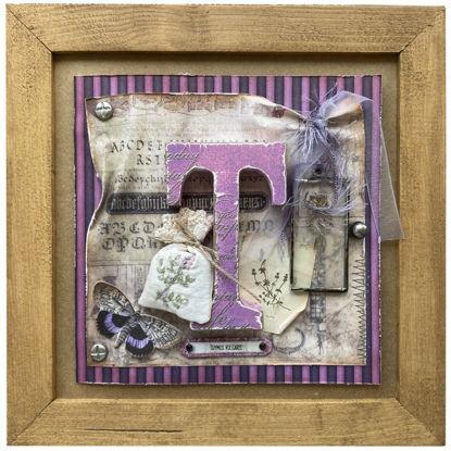 Obrázek Obrázek a voňavé přání Písmeno T s tymiánem