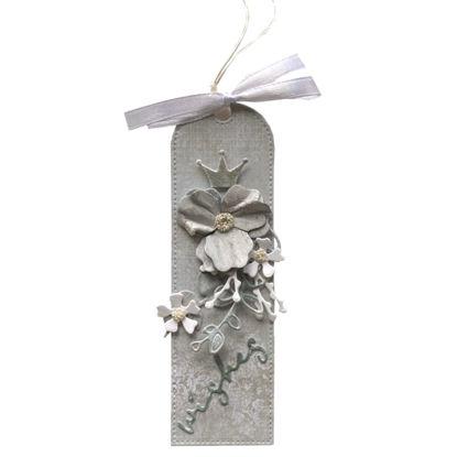 Obrázek Jmenovka na dárek (střední) Šedomodrá wishes