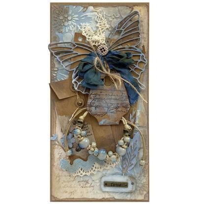 Přáníčko s dárečkem Náramek modrý