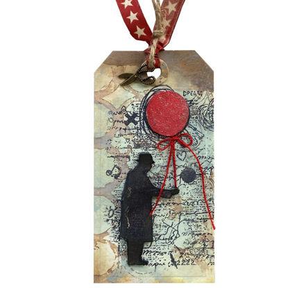 Obrázek Jmenovka na dárek (velká) Pán s balónkem