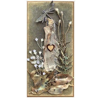 Obrázek Přání do obálky Kůra se srdcem 2