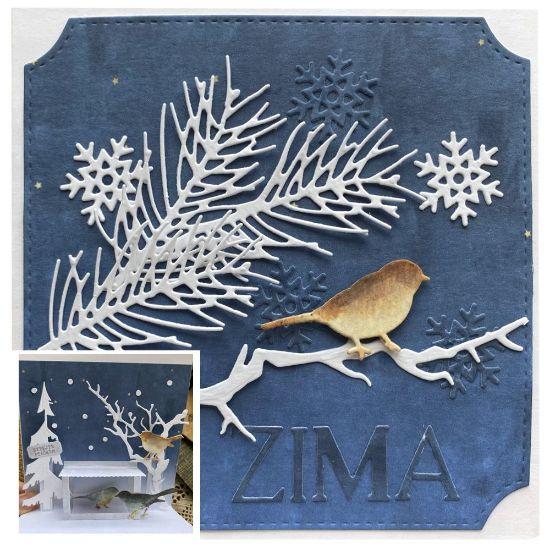 Obrázek Vánoční přání 3D Zima