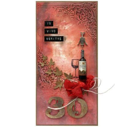Obrázek Přání k 30. narozeninám Červené víno
