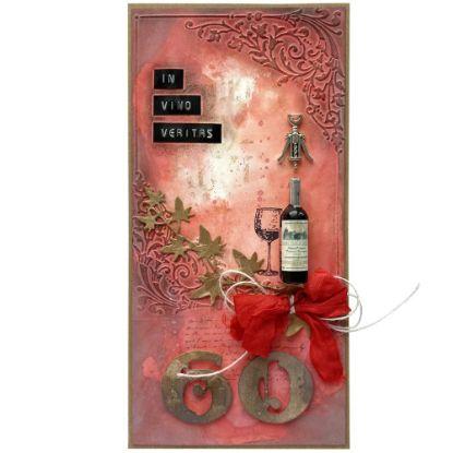 Obrázek Přání k 60. narozeninám Červené víno