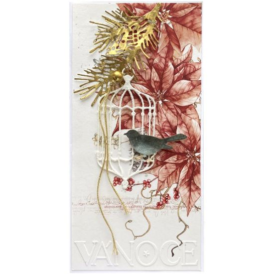 Obrázek Vánoční přání Poinsettia - vánoce