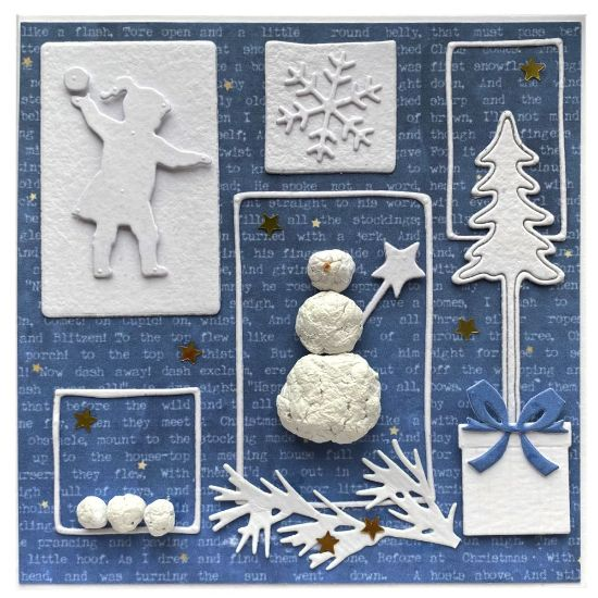 Obrázek Vánoční přání Sněhulák 2