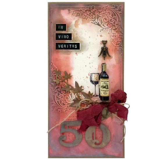 Obrázek Přání k 50. narozeninám Červené víno