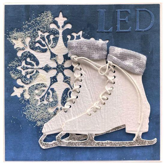 Obrázek Vánoční přání Led - brusle