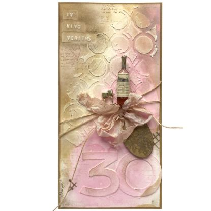 Obrázek Přání k 30. narozeninám Růžové víno