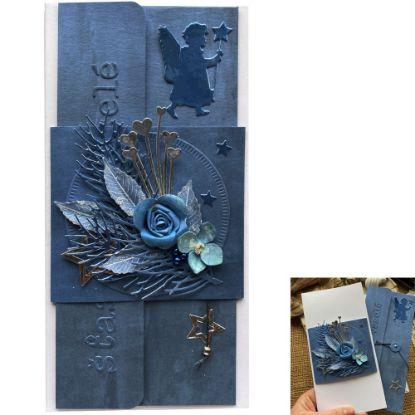 Obrázek Vánoční přání na peníze Modré