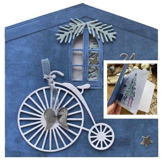 Obrázek Vánoční přání Bicykl