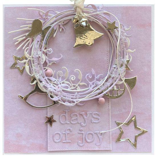 Obrázek Vánoční přání Věneček se zvonečkem