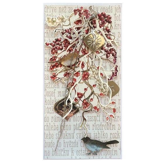 Obrázek Vánoční přání Ptáčci