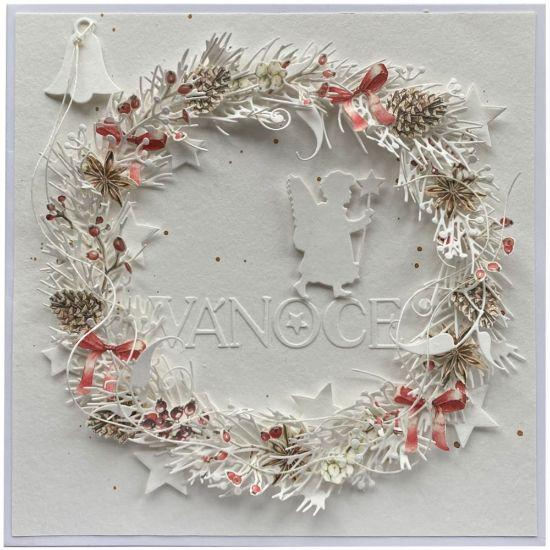 Obrázek Vánoční přání  Maxi věnec