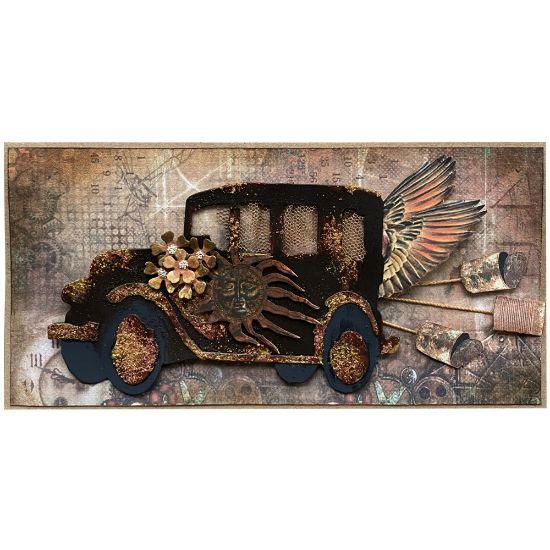 Obrázek Svatební přání Steampunk auto