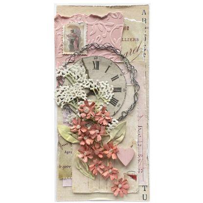 Obrázek Svatební přání Vintage s růžovou