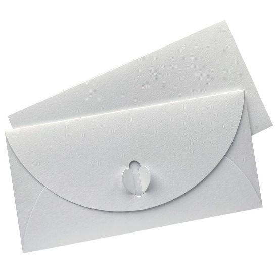 Bílá luxusní obálka DL typu motýlek