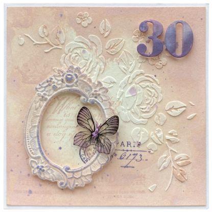 Obrázek Přání k 30. narozeninám S motýlkem