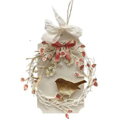 Obrázek Jmenovka na dárek (střední) Šípek s ptáčkem