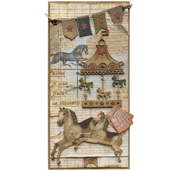 Obrázek Přáníčko do obálky Kolotoč