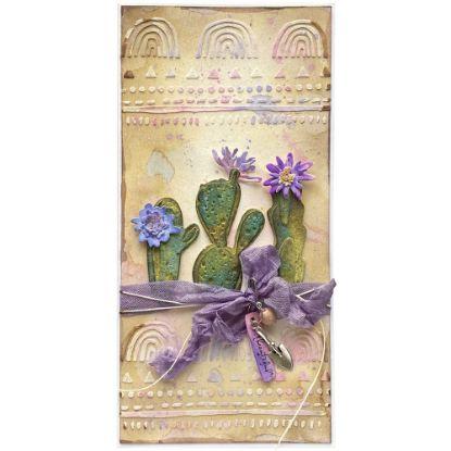 Kaktusové přáníčko laděné do pastelových barev
