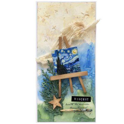 Přáníčko inspirované obrazy malíře Vincenta van Gogha