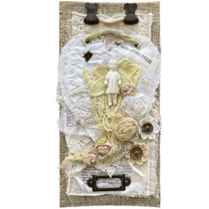 Obrázek Přáníčko do obálky Fabric art