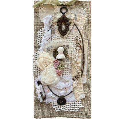 Obrázek Přáníčko do obálky Fabric art 2